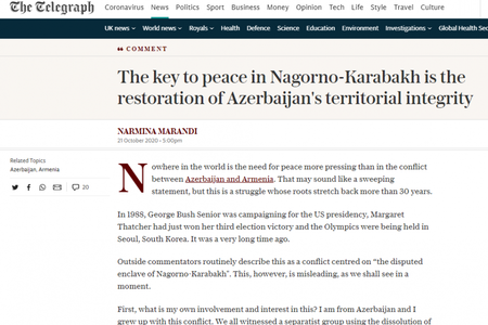 """The Telegraph"" qəzeti:"